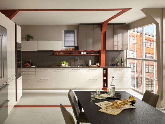 cuisine ouverte sur le salon délimiter visuellement