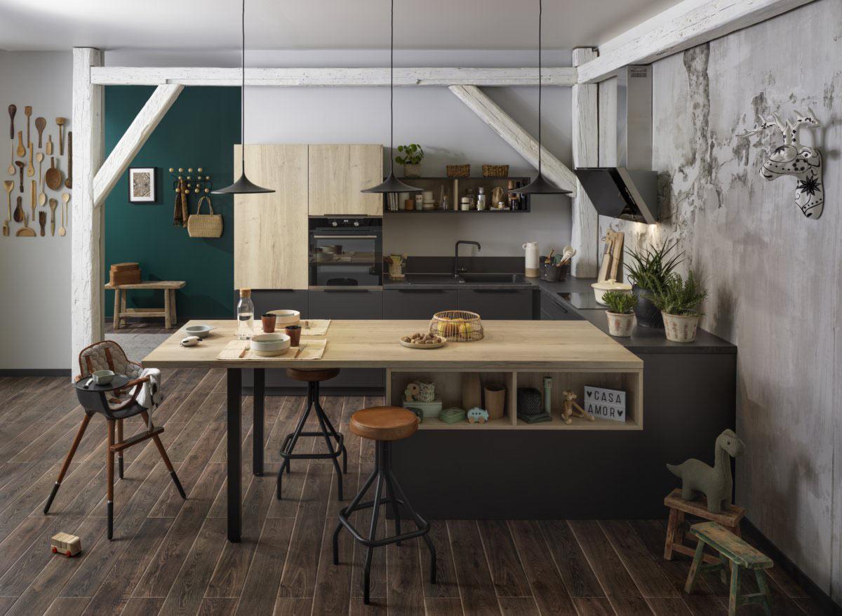 petite cuisine ouverte sur salon