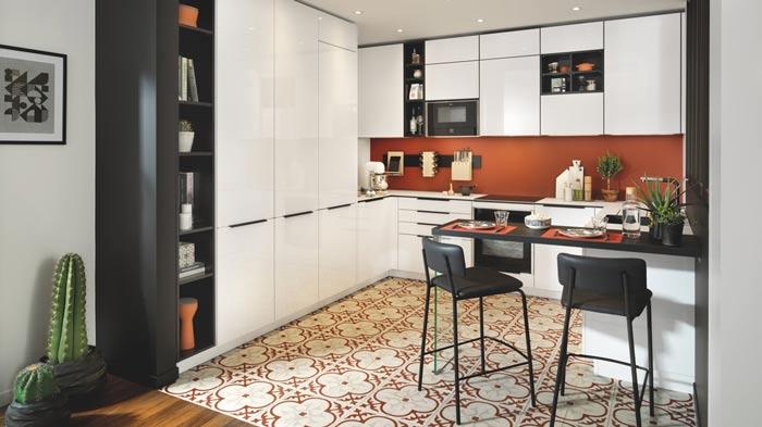 cuisine ouverte sur la pièce à vivre, cuisine personnalisé, sur-mesure