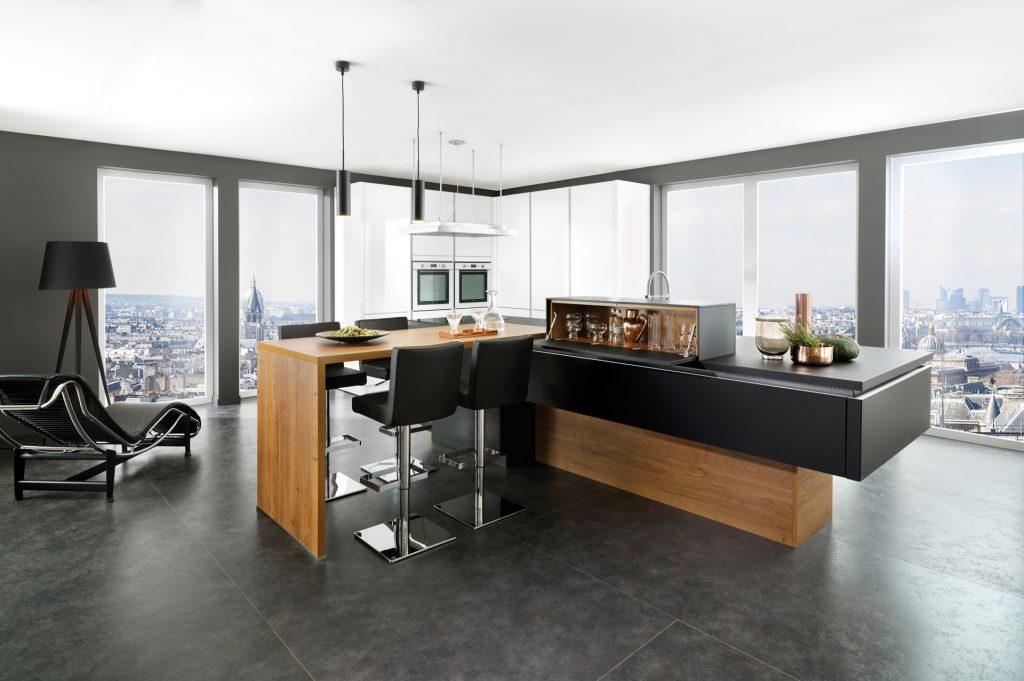 Cuisine Noire Et Bois Design Schmidt