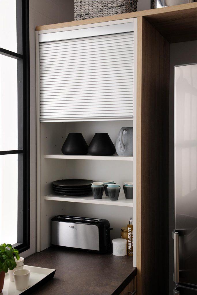 Rangement cuisine organisation appareils m nagers blog - Porte rideau coulissant pour meuble ...