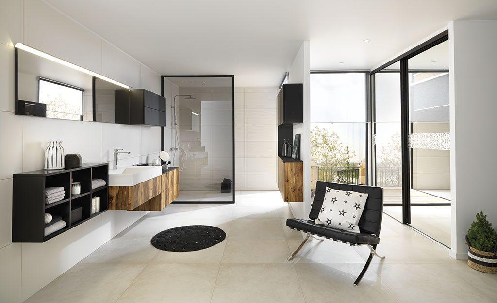 Meuble De Salle De Bains Design Effet Marbre Pour Un Style Immaculé Et  Intemporel