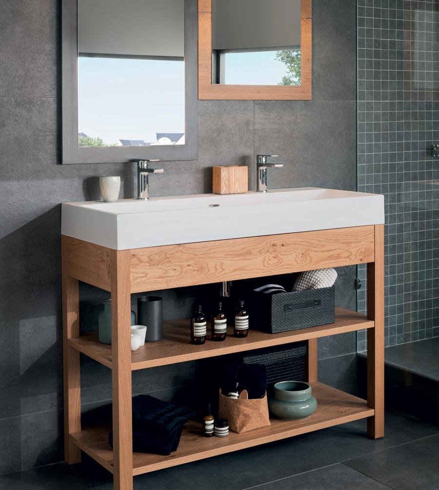 Meuble vasque ouvert en bois