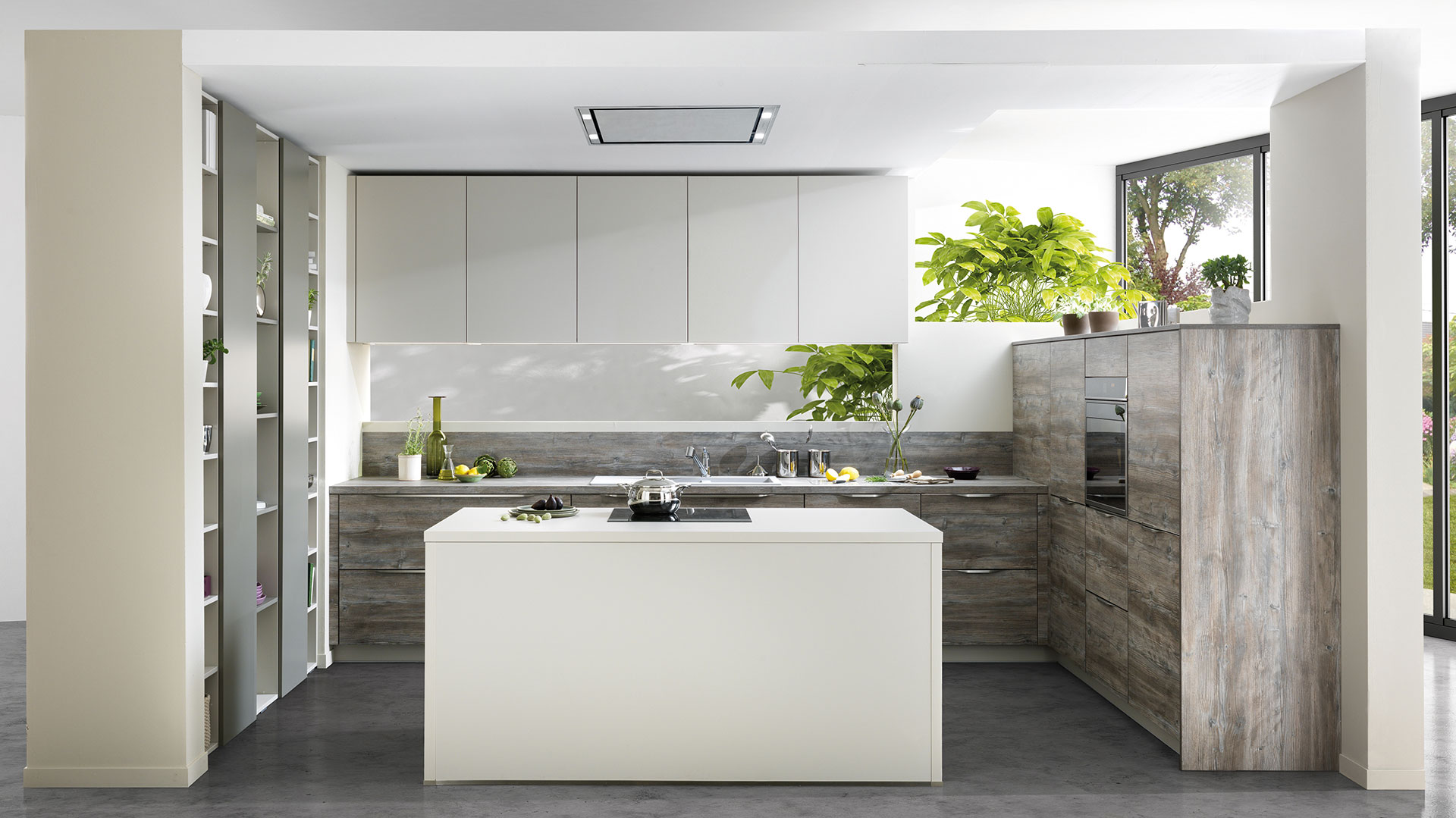 petite cuisine moderne avec îlot central schmidt