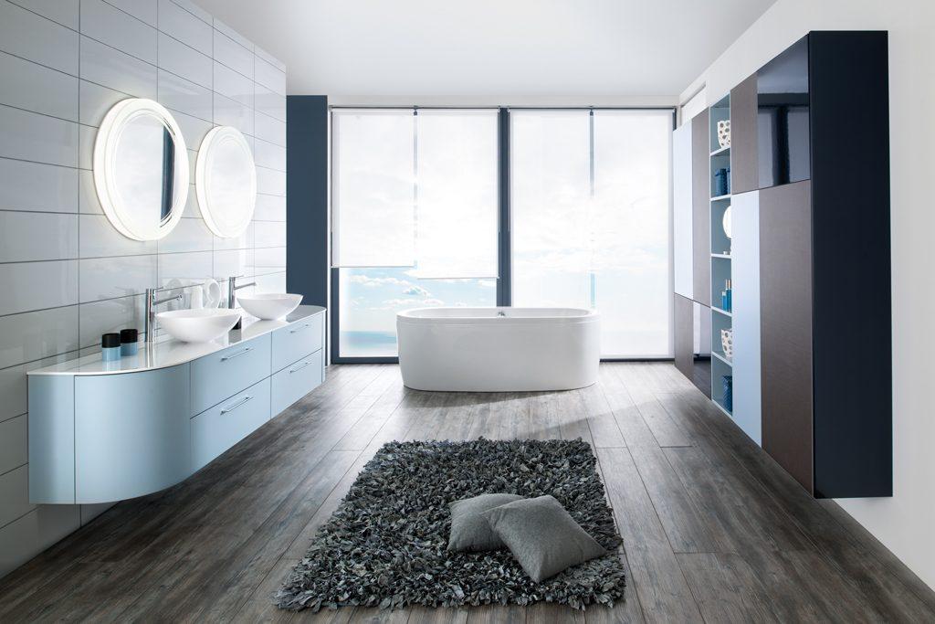 Salle de bains bleu clair schmidt