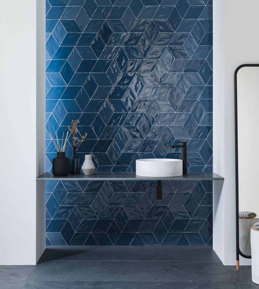 Porcelanosa, collection Rhombus Navy Antic Colonial