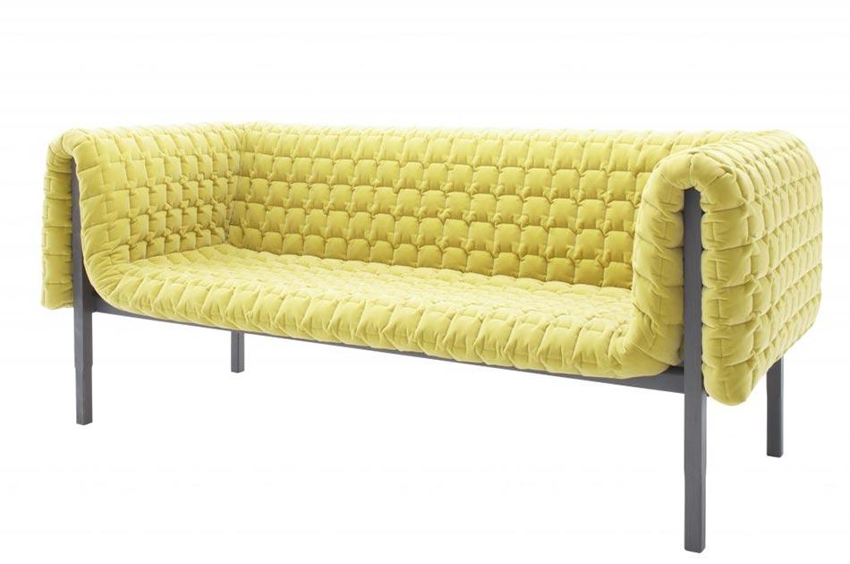 canapé ruché design pour décoration d'intérieur