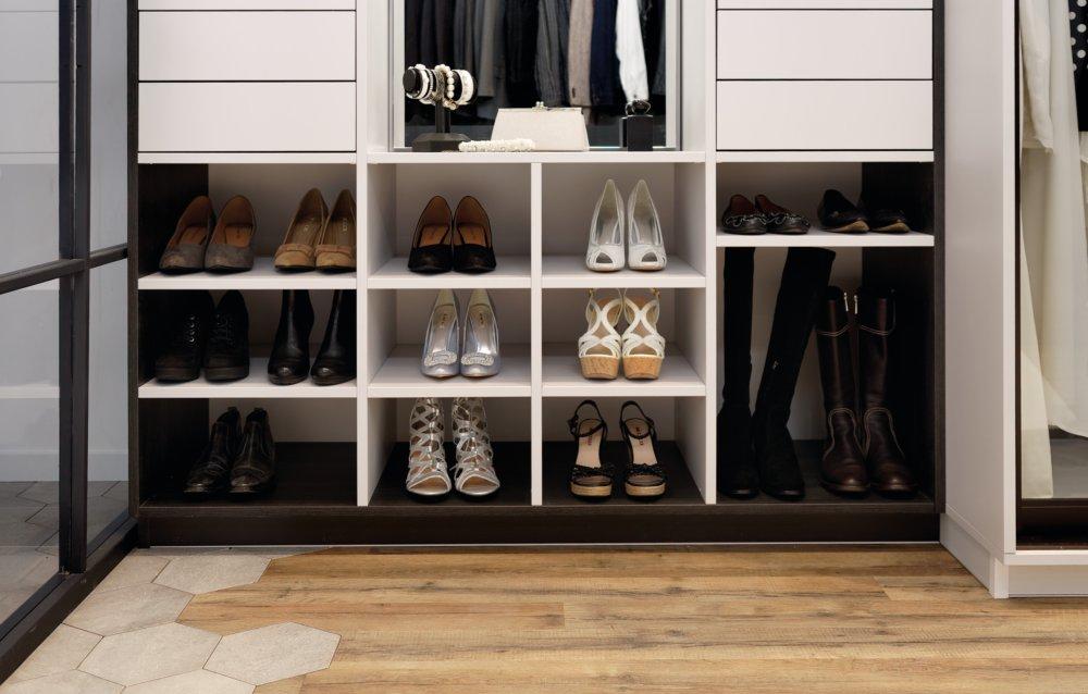 rangement de chambre pour chaussures