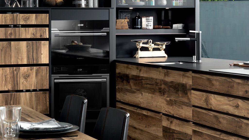 Meuble Noir Et Bois Idees Deco Cuisine Dressing Salon Blog Schmidt