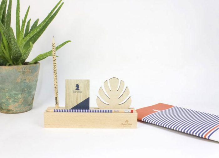 déco en bois porte crayon design
