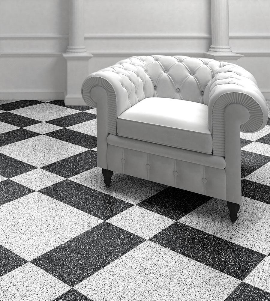 sol en marbre terrazo