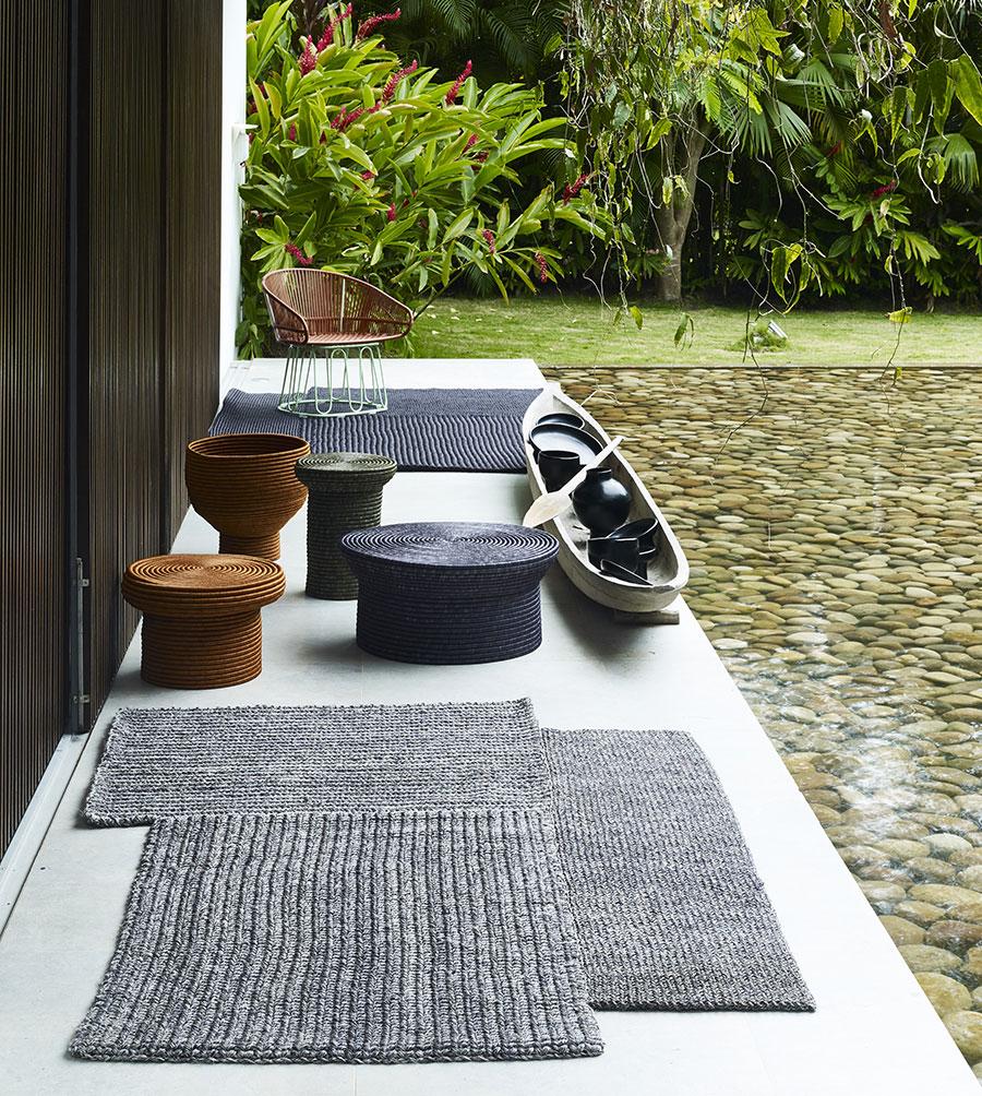 tapis et fauteuil Ames par Sebastien Herkner