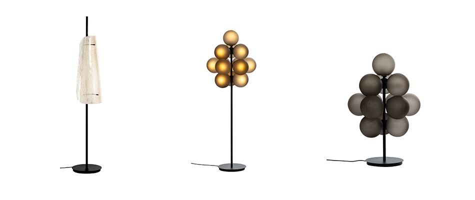 lampes Pulpo, modèle Bent et Stellar Grape