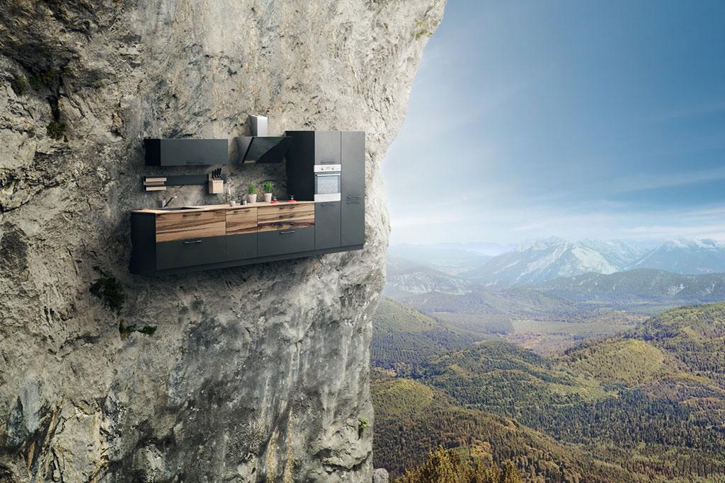 Vertical Home - cuisine dans la montagne