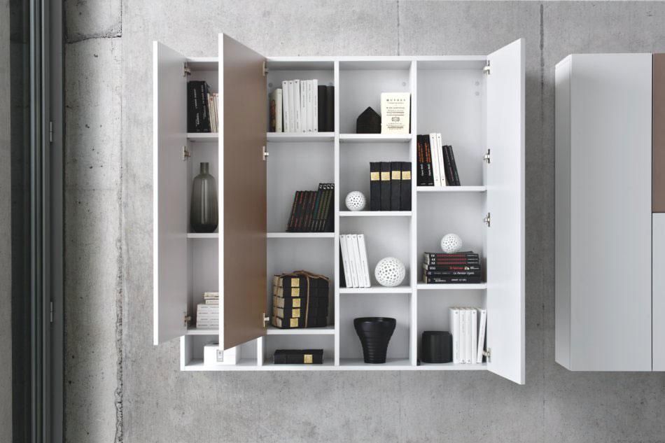 meuble design blanc et neige avec niches