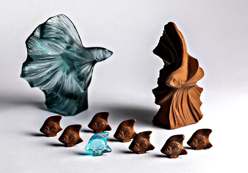 Poissons en chocolat par hôtel Prince de Galles
