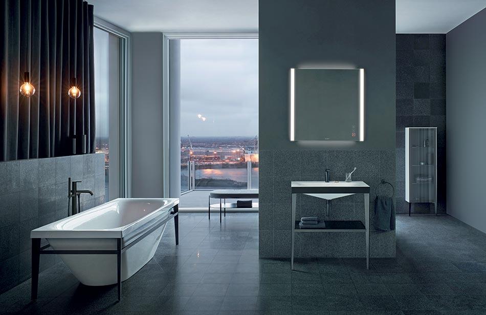 Salle de bains grise design par Sieger design