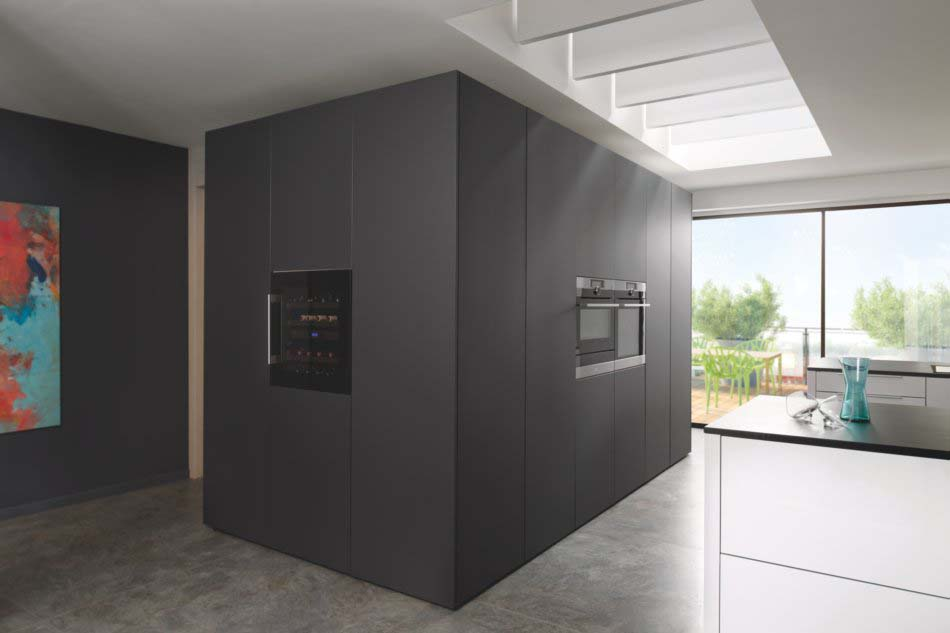 Meubles de cuisine avec façades toute hauteur