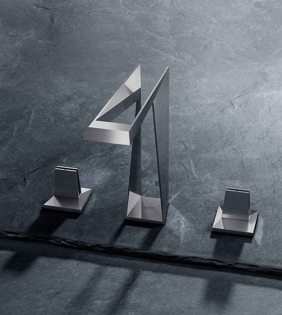 Robinet design et ajouré imprimé en 3D, par Grohe