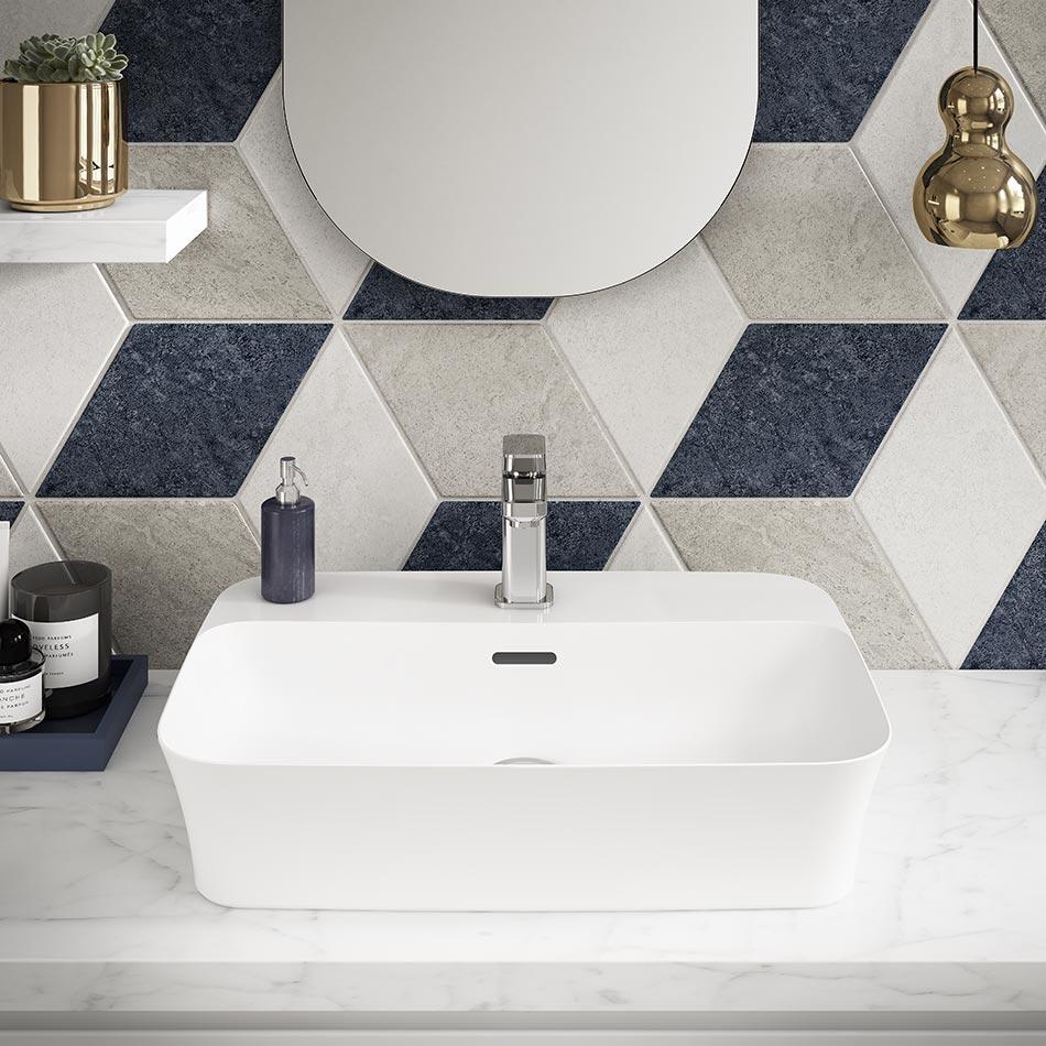 Vasque rectangulaire blanche en céramique Diamatec chez Ideal Standard