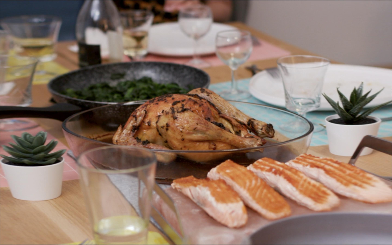 Repas de Gwen préparé dans sa cuisine Schmidt