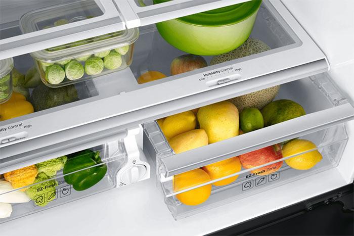 Bacs fraîcheur fruits et légumes