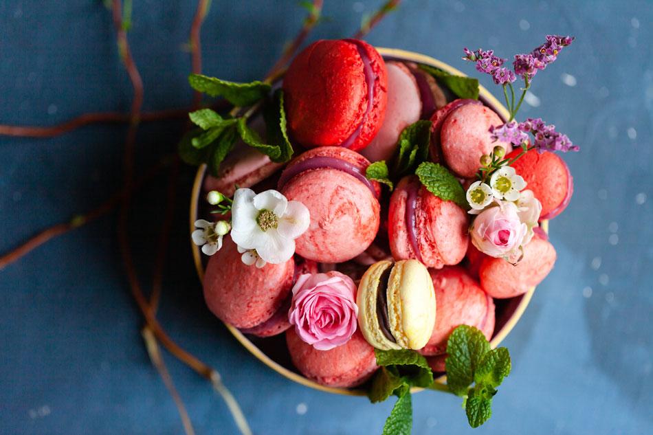 Confiseries à base de fleurs comestibles.