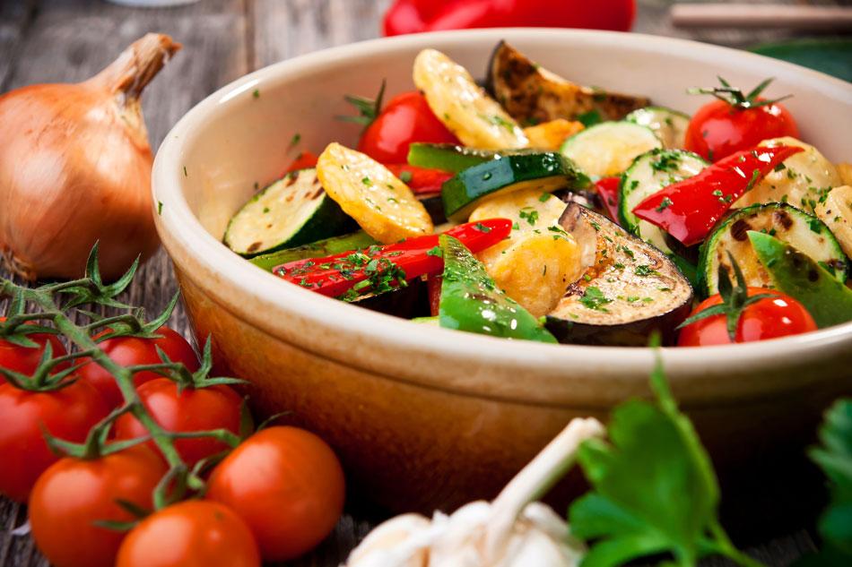 Légumes au four.