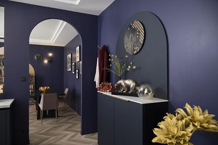 Meuble buffet bleu style Art Déco