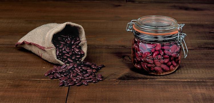 haricots rouge conservés dans bocaux le parfait