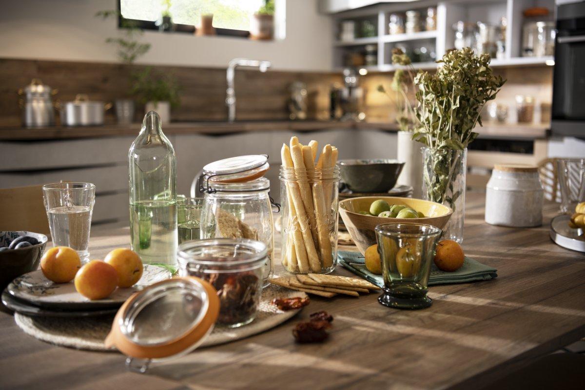 Bocaux le Parfait dans la cuisine origin faite de façades 100% recyclées