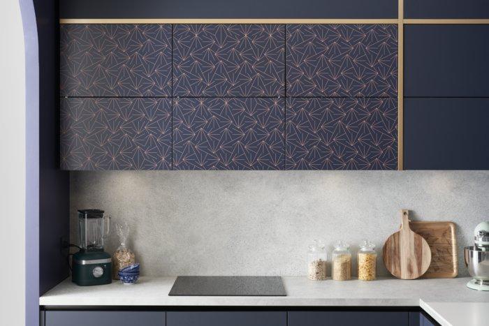 cuisine style Art déco avec des motifs géométriques