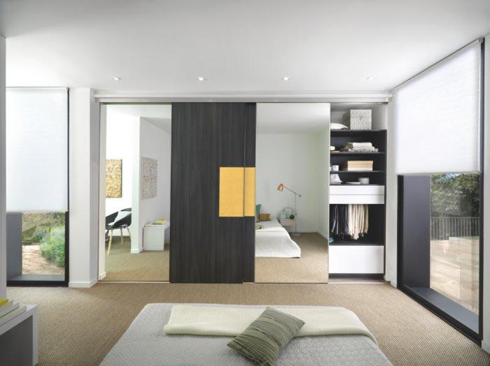 portes coulissantes en chambre