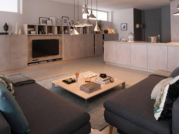 table basse carrée plateau aspect bois clair