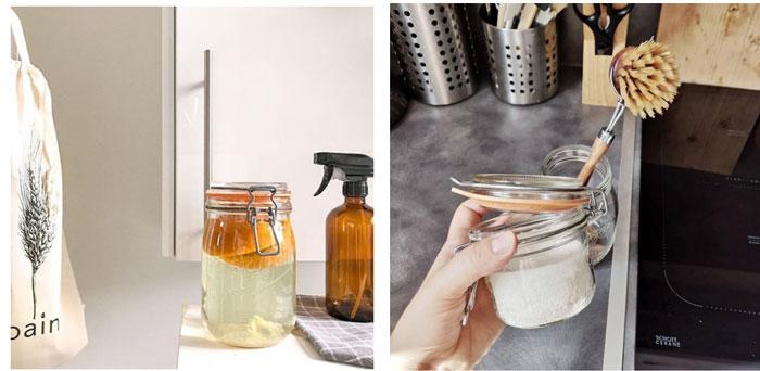 Du vinaigre, de l'eau et des écorces d'orange, de citron ? Tout est possible… Faites votre nettoyant multifonction et conservez-le dans des bocaux
