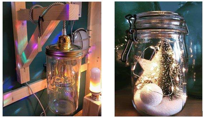 faire des luminaires déco design avec des bocaux